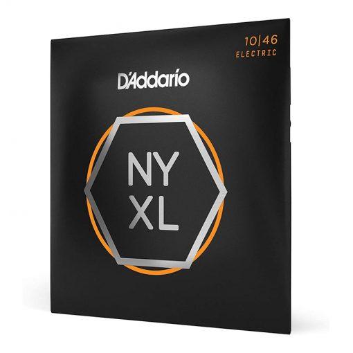 D'Addario NYXL 1046 Nickel Plated Electric Guitar Strings, Regular Light,10-46-2