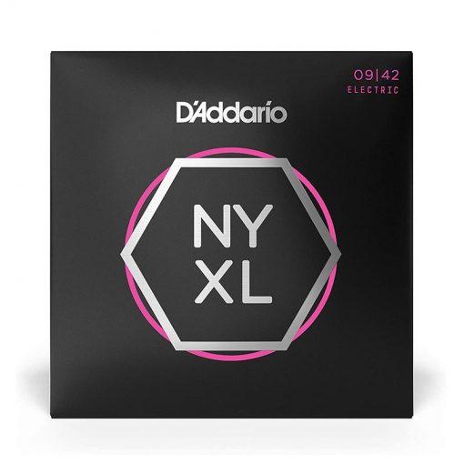 D'Addario NYXL0942 Nickel Plated Electric Guitar Strings, Super Light,09-42-1