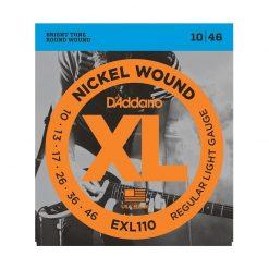 D'Addario EXL110 Nickel Wound Electric Guitar Strings, Regular Light, 10-46 -1