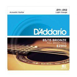 D'addario EZ910 85-15 Bronze Acoustic Guitar Strings, (.011-.052)-1