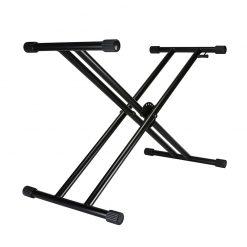 Double X Braced Keyboard Stand, Black
