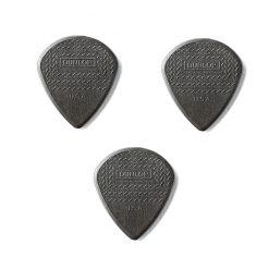 Dunlop Nylon Max Grip Jazz III Black Nylon Guitar Picks,3 pc pack
