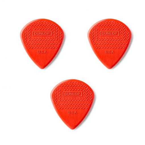 Dunlop Nylon Max Grip Jazz III Red Nylon Guitar Picks,3 pc pack-1