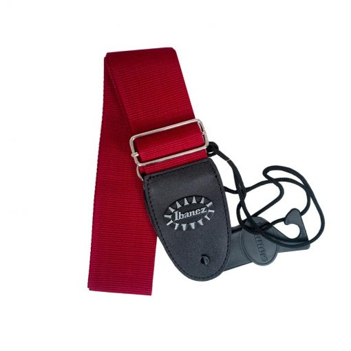 Ibanez GS60-WR Guitar Strap, Wine Red