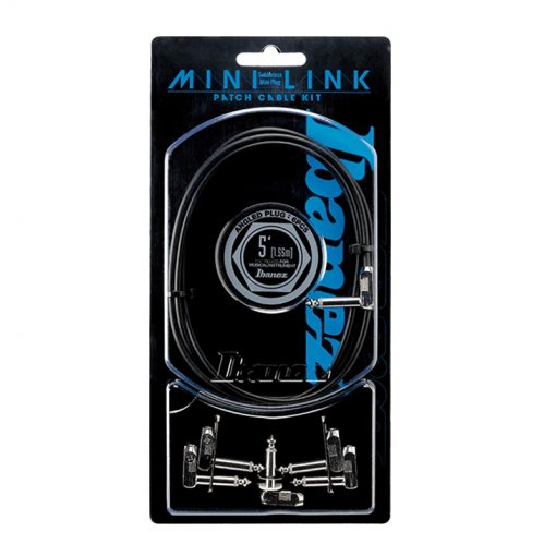 Ibanez PA01K5L 5ft Guitar Patch Cable kit, 6 angled plugs