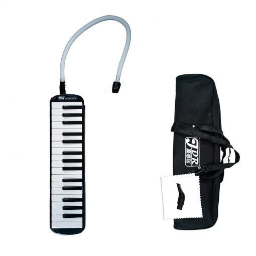 JDR Melodica 32 keys Piano Style Keyboard With Soft Case, Black