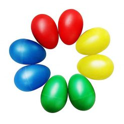 Playful Plastic Percussion Musical Maracas Egg Shakers -2