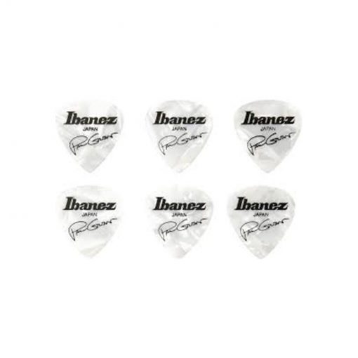 Ibanez B1000PG-WH Paul Gilbert Guitar Pick Set, White, 6pcs -01