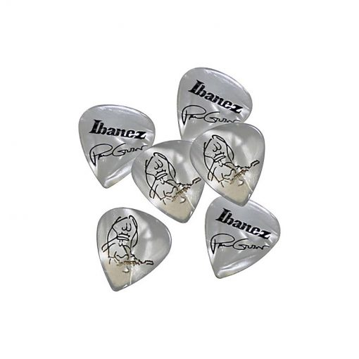 Ibanez B1000PG-WH Paul Gilbert Guitar Pick Set, White, 6pcs -02