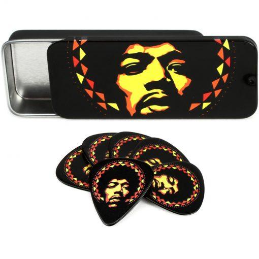 Jim Dunlop JH-PT16H Jimi Hendrix Aura Mandala Pick Tin -01