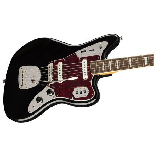 Squier Classic Vibe 70s Jaguar Electric Guitar Laurel FB, Black -01