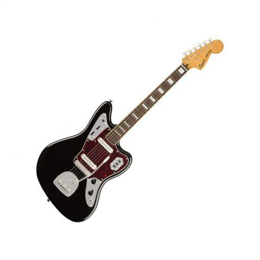 Squier Classic Vibe 70s Jaguar Electric Guitar Laurel FB, Black -02