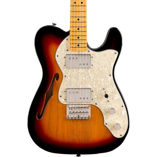 Squier Classic Vibe 70s Telecaster Thinline Electric Guitar,3-Tone Sunburst-01