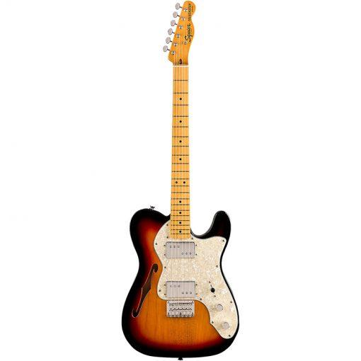 Squier Classic Vibe 70s Telecaster Thinline Electric Guitar,3-Tone Sunburst-03