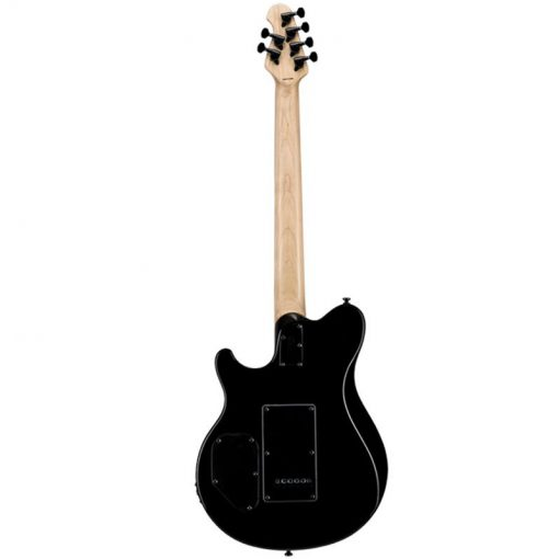 Sterling by Music Man Axis Electric Guitar, Jatoba FB, Black -06