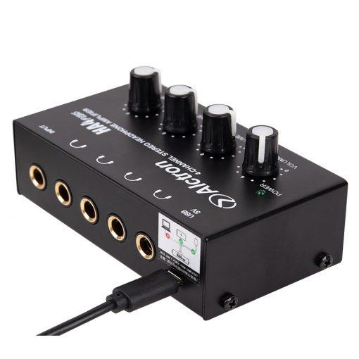 Alctron Mini 4-channel headphone amplifier-14